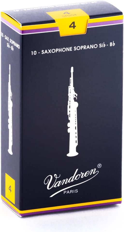 B0002D0AD2 Vandoren SR204 Soprano Sax Traditional Reeds Strength 4; Box of 10 61HKJTCfF0L
