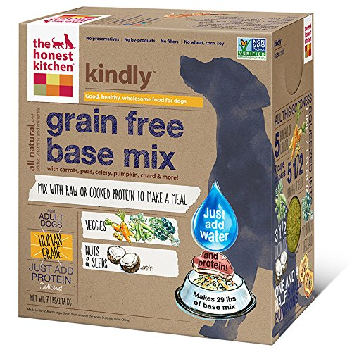 The Honest Kitchen Kindly Grain Free Base Mix - Natural Human Grade Dehydrated Dog Food Just Add Protein, 7 lbs (Makes 29 lbs of Base Mix)