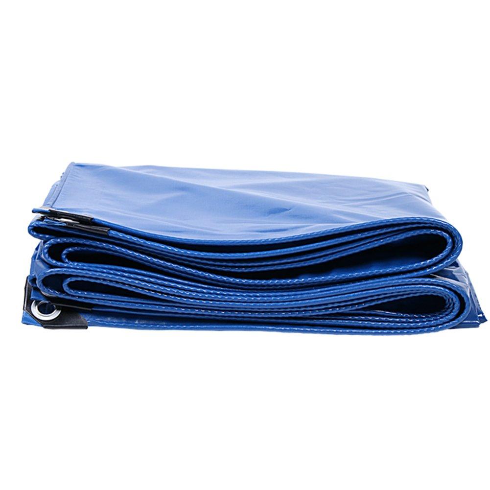 CHAOXIANG 厚い 折りたたみ可能 両面 防水 日焼け止め 耐摩耗性 耐高温性 耐寒性 耐食性 防塵の 軽量 PVC 青、 350g/m 2、 厚さ 0.4mm、 21サイズ (色 : 青, サイズ さいず : 4×4m) B07DB6F7Q4 4×4m|青 青 4×4m