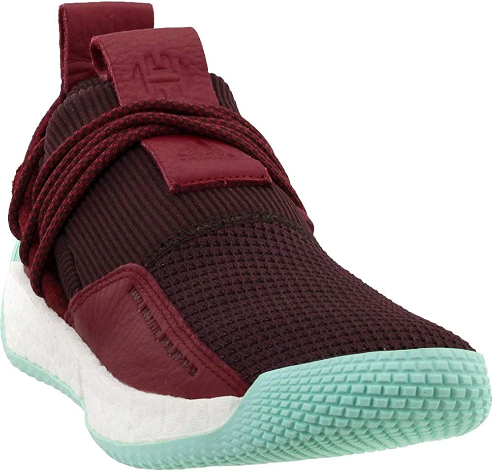 adidas Men's Harden LS 2 Lace MVP Basketball (8 M US, Red/Maroon/Clear Mint)