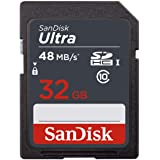 Sandisk SDSDUNB-032G-GN3IN 32GB SD Class 10 SDHC Flash 48MB/s Memory Card, Black