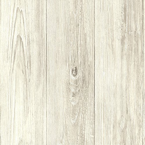 Chesapeake CTR64223 Mapleton Beach Faux Wood Texture Wallpaper