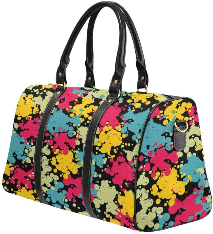 InterestPrint Carry-on Garment Bag Travel Bag Duffel Bag Weekend Bag Colorful Blots