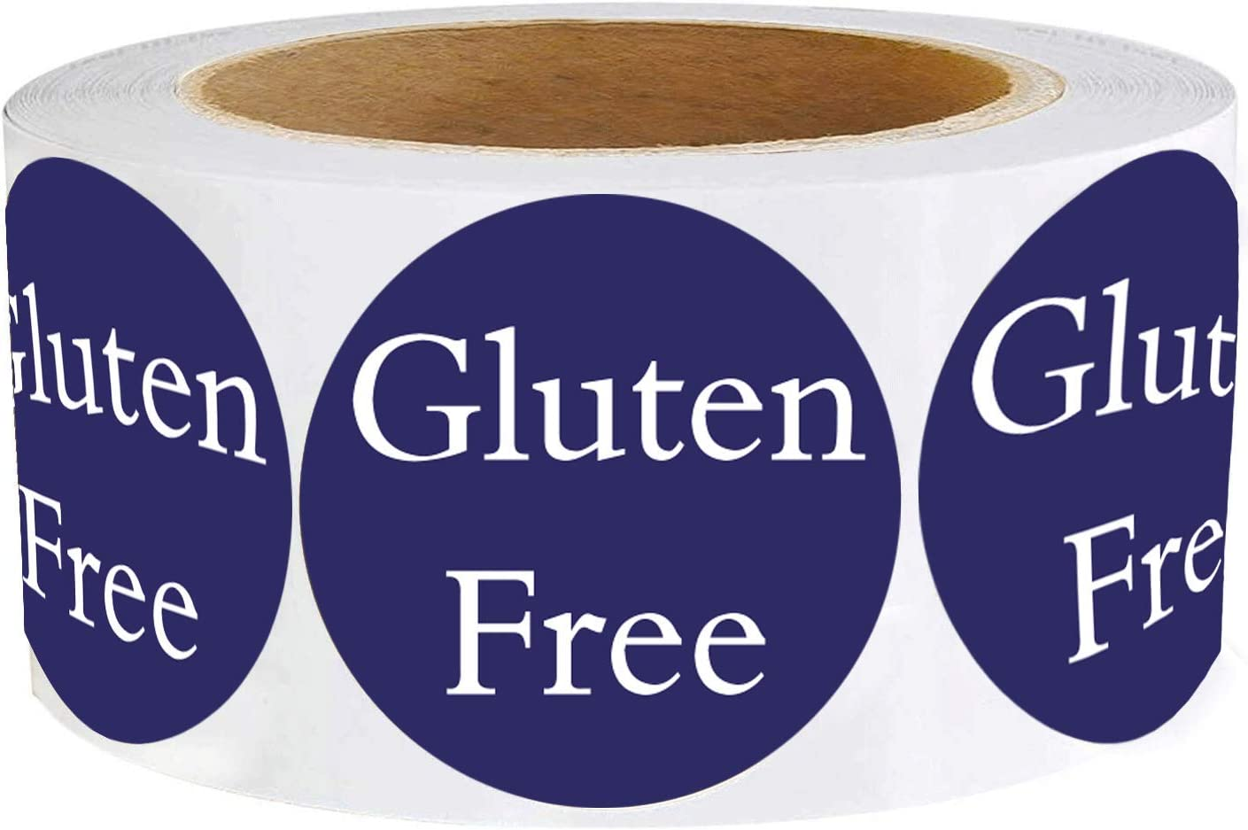 Gluten Free Labels 1.5 Inch - Food Rotation Labels 500 Adhesive Round Circle Dot Stickers