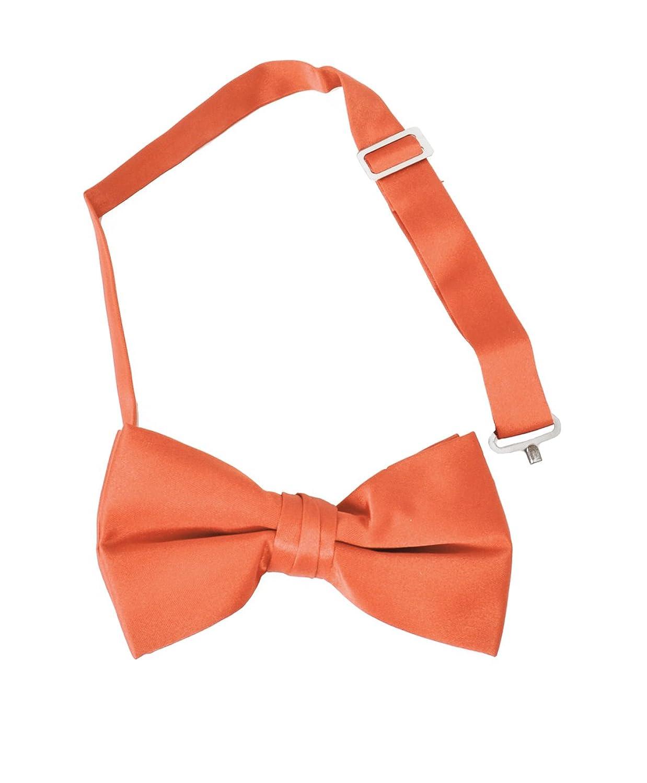 wholesale Formal Solid Banded Pre-Tied Boys Bow Ties-Orange supplies