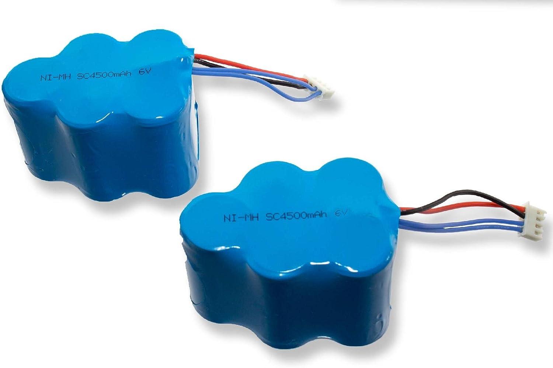 INTENSILO 2 x baterías NiMH 4500mAh (6V) para robot aspidador doméstico Hoover RVC0010, RVC0011, RVC0011-001 como LP43SC3300P5.: Amazon.es: Hogar