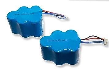 INTENSILO 2 x baterías NiMH 4500mAh (6V) para robot aspidador doméstico Ecovacs Deebot D730, D73n, D76, D760, D77, D79 como LP43SC3300P5.: Amazon.es: Hogar