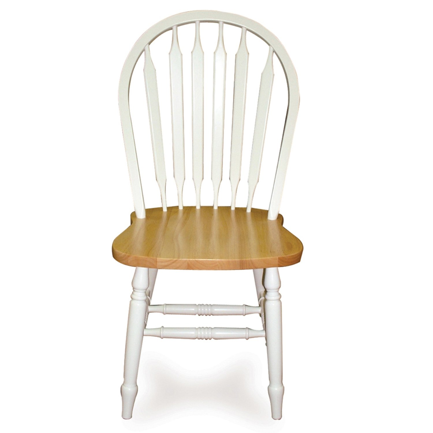 International Concepts C02-213 Windsor 38'' High Arrowback Chair White/Natural