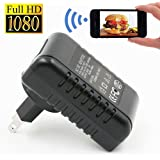 FiveSky 1080P Wifi Hidden Camera / Nanny Cam / Spy Camera AC Power Adapter Motion Detection Video Recorder Support Android IOS Smartphone Remote View