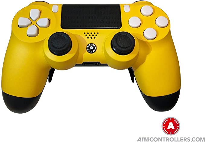 PS4 DualShock 4 PlayStation 4 Wireless Controller - Custom AiMControllers Yellow Matt Design Scuf: Amazon.es: Videojuegos