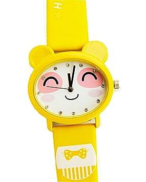 Reloj impermeable de Kawaii exquisito conejo de dibujos animados de diseño de pulsera de cuarzo para