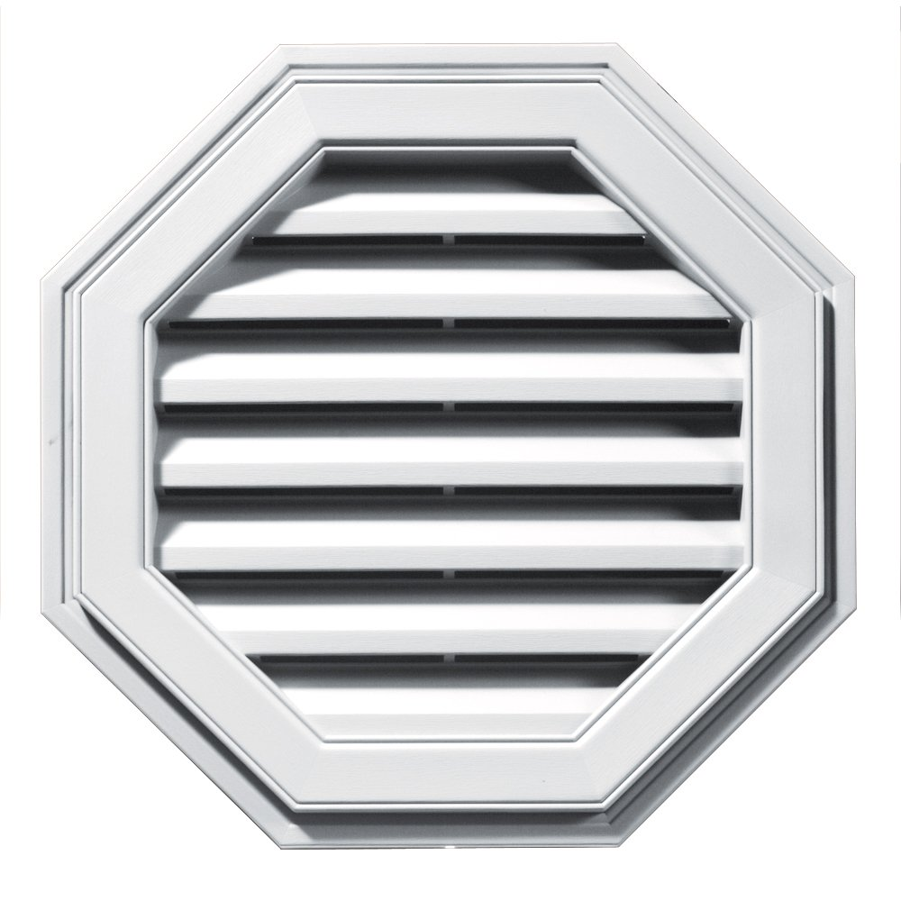 Builders Edge 120012222001 22'' Octagon Vent 001, White