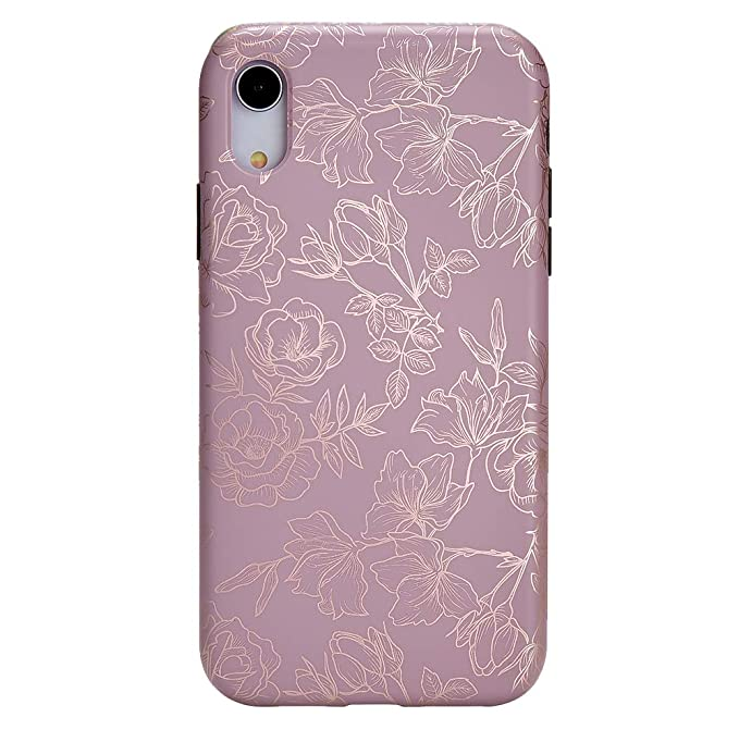uk availability 3c64b 12511 Velvet Caviar for iPhone XR Case Floral Flower - Protective Cover - Cute  Phone Cases for Girls & Women [Drop Test Certified] (Purple Rose Gold)