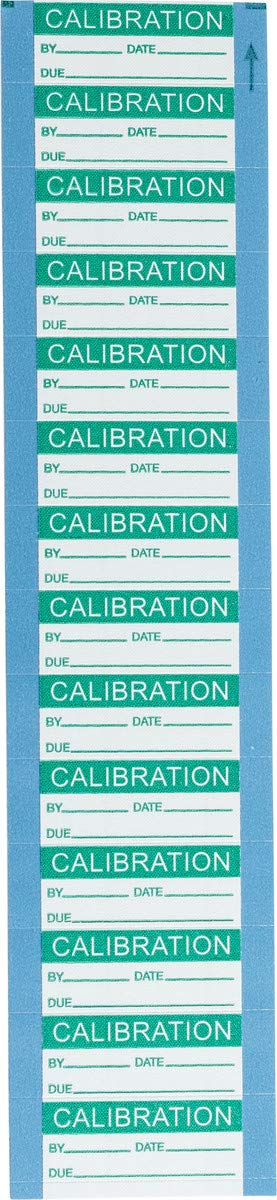 Brady 5/8'' X 1 1/2'' Green/Silver Aluminum Foil Label''CALIBRATION'', Pack Quantity - 10