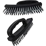 """Wire Scratch Brush (2 Pack) 6.5 """" Durable Stainless Steel Comfortable Handle Grip"""