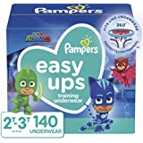 Pampers Easy Ups Pull On Disposable Potty Training Underwear for Boys, Size 4 (2T-3T), 140Count, One Month Supply