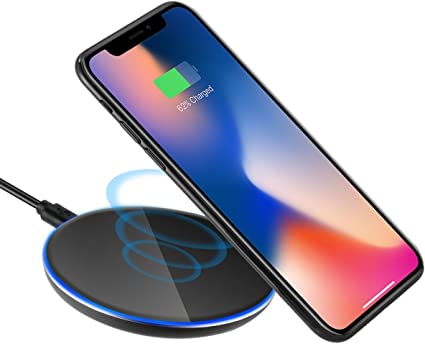 QI Wireless Charging Charger LED Pad Plate for Samsung Galaxy, iPhone 88 Plus, iPhone X, Nexus 56 7,and Other Devices,Provides Fast Charging for