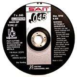 United Abrasives SAIT 22360 Cutting Wheel Type 27 A46N, 6-Inch by 0.045-Inch by 7/8-Inch, 50-Pack