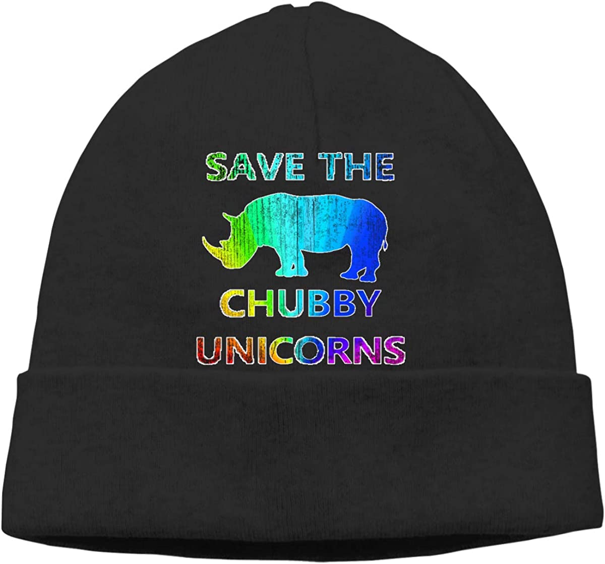 Save The Chubby Unicorns Warm Winter Hat Knit Beanie Skull Cap Cuff Beanie Hat Winter Hats for Men /& Women