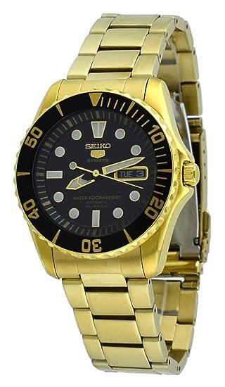Seiko SNZF22J1 - Reloj para hombres, correa de metal color dorado: Amazon.es: Relojes