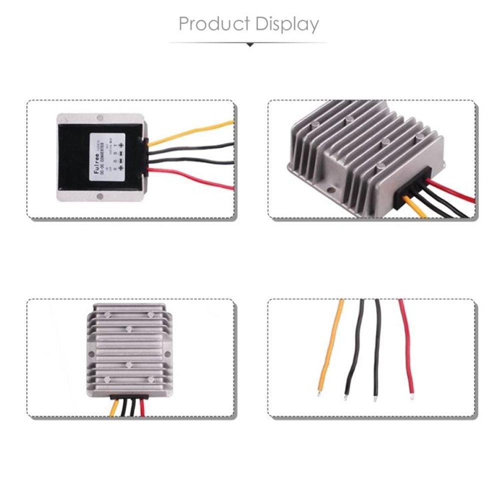 Mini convertisseur onduleur de courant Hitcar pour voiture CC 24/V vers CC 12/V entr/ée 18/V-32/V pour cam/éra de recul etc.
