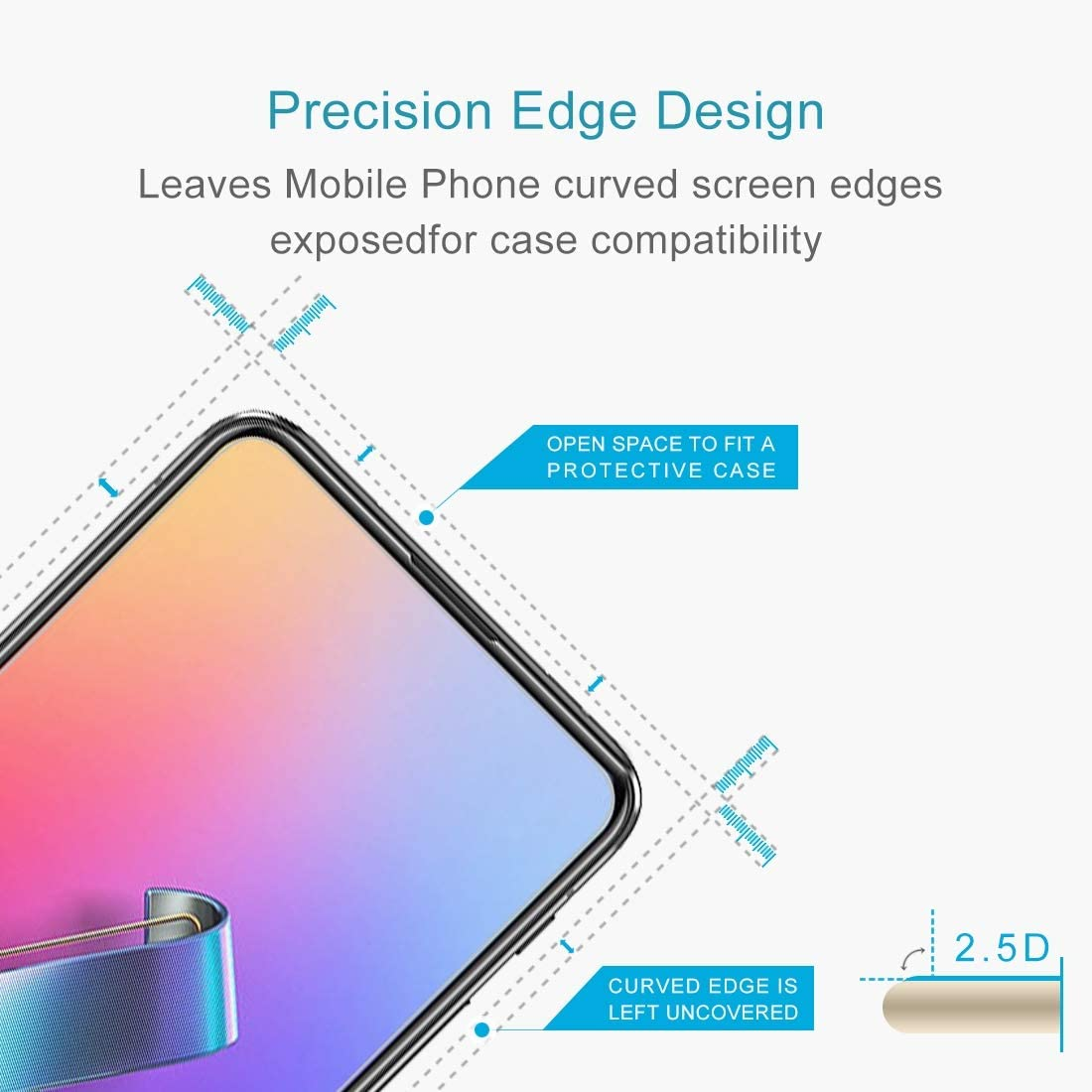 YSH Cell Phone Accessories 100 PCS 0.26mm 9H 2.5D Tempered Glass Film for Asus Zenfone 6 ZS630KL Screen Protector for ASUS