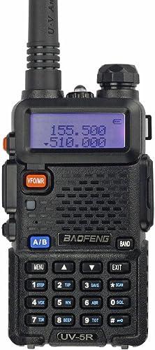 BaoFeng UV-5R 65-108 MHz Dual-Band Ham Radio Black
