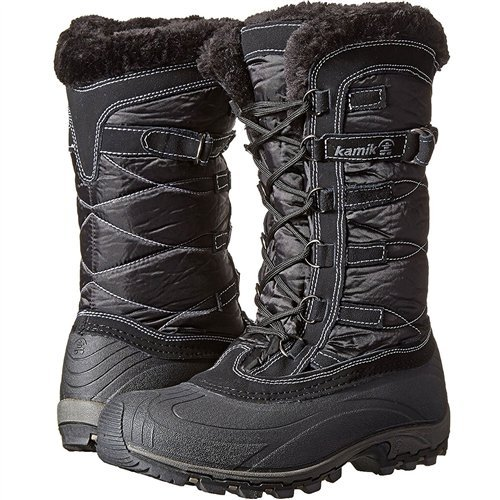 Kamik Women's Snowvalley Winter Snow Boot ,Black BK2,8 M US ()