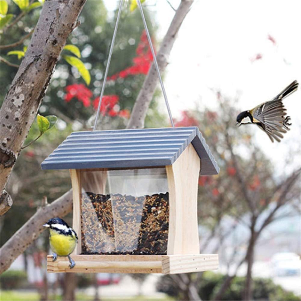 Outdoor Bird Feeder for Garden Villa Forest, Wild Bird Predection Feeder, with Roof
