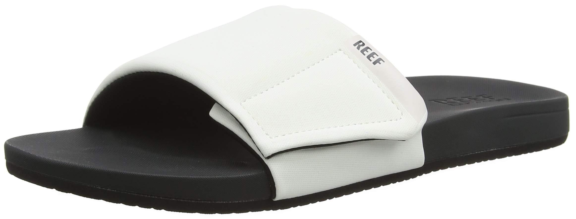 Reef Men S Cushion Bounce Slide Grey White 10 D Us
