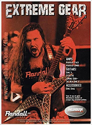 Washburn Randall Extreme Gear Amps/Guitars - Dimebag Darrell - 2001