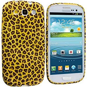 Accessory Planet(TM) Yellow Leopard TPU Design Soft Rubber Case Cover Accessory for Samsung Galaxy S III S3