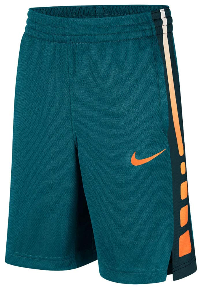 Nike Big Kids' (Boys') Dri-FIT Training Shorts (Geode Teal/Cone/Cone, Small) by Nike