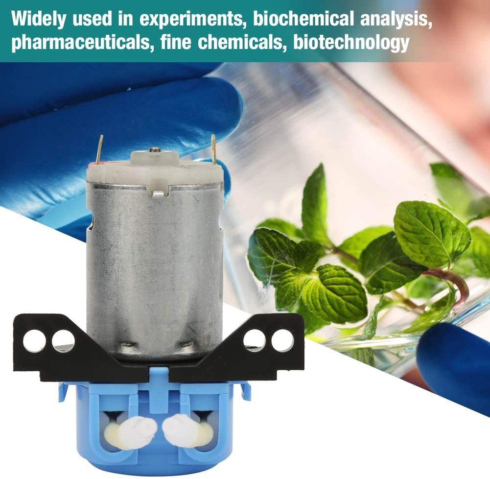 Pangding Bomba peristáltica líquida de Micro Agua DC para Laboratorio analítico de Acuario 2 * 4 mm 6 V(Azul)