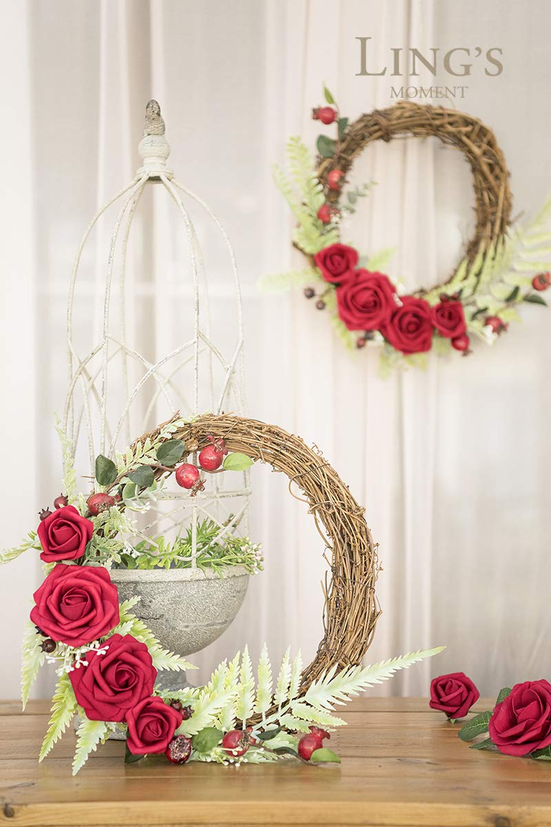 Lings-moment-DIY-Blush-Pink-Flower-Floral-Hoop-Wreath-for-Wedding-Party-Backdrop-Decorations
