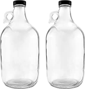 NiceBottles - Glass Half Gallon Jug, Pack of 2