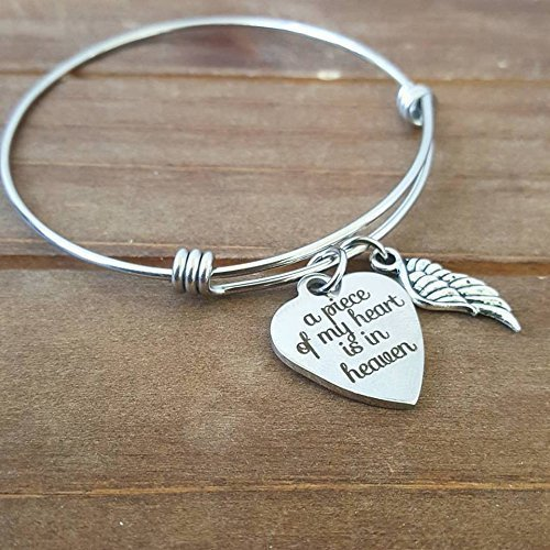 ready-to-ship-a-piece-of-my-heart-is-in-heaven-angel-wing-memorial-bracelet