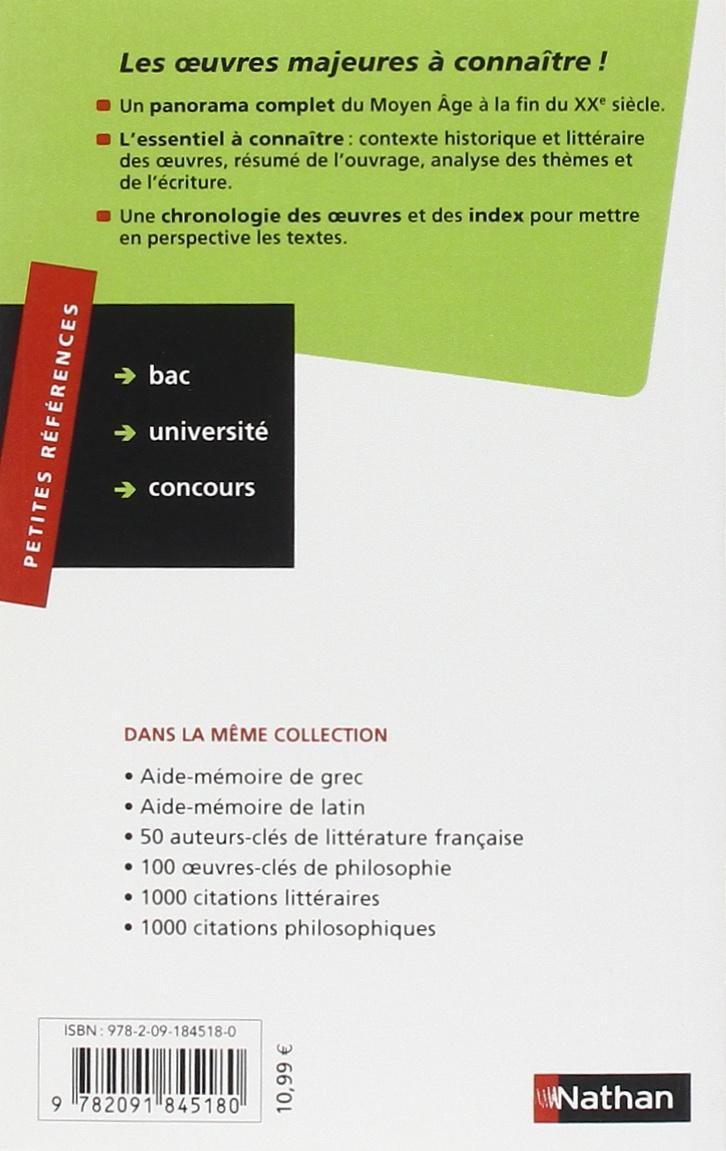 Amazon.fr - 100 OEUVRES-CLES DE LITTERATURE FRANCAISE - Eric Duchatel,  Denis Huisman - Livres