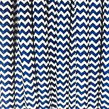 Fil électrique tissu zébré bleu italien et blanc - câble textile rond 2 fils 2x0.75mm2