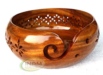 Amazon Com Inam Handicrafts Sheesham Wood Crafted Wooden Yarn