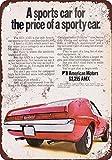 "7"" x 10"" Metal Sign - 1970 American Motors AMX - Vintage Look Reproduction"