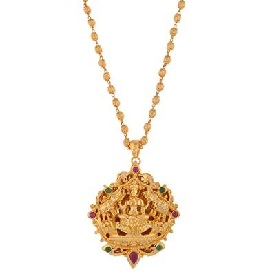 Buy 1 gram gold plated lakshmi pendant without chain online at low 1 gram gold plated lakshmi pendant without chain mozeypictures Image collections