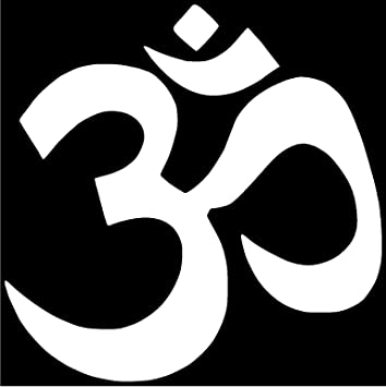 Amazon Om Symbol Hindu Vinyl Sticker Decal 10 X 10 White