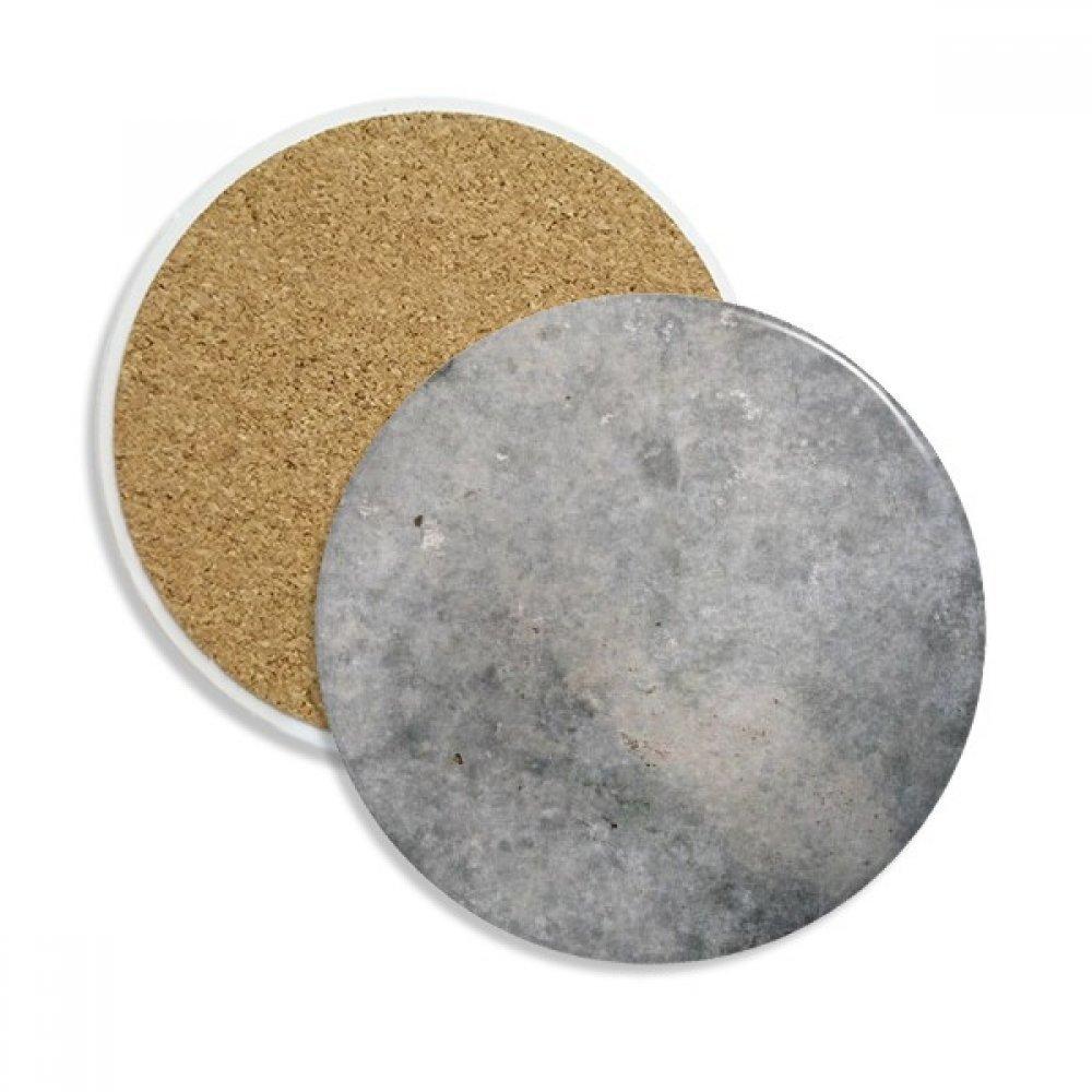 ブラックホワイト大理石アンティークパターンストーンDrink Ceramicsコースターマグカップギフト用2ピース   B075GKKGSV