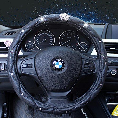 sino-banyan-steering-wheel-coverpu-leather-with-crystal-crown-diamond15black