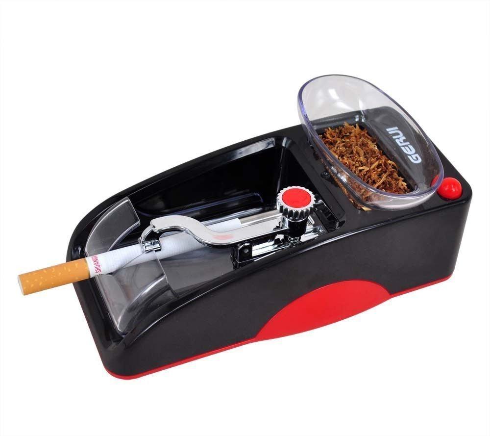 Cam2 Electric Cigarette Tobacco Rolling Automatic Roller Maker Mini Machine (Red and Black)