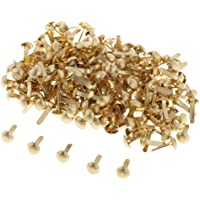 D DOLITY 200pcs Mini Decorative Round Head Split Pins Metal Brads Paper Fasteners for Scrapbooking Paper Craft Office Stationery