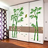great bamboo wall decals EORTA Wall Decal Stickers Green Bamboo Forest Removable Beautiful Wall Stickers Murals Chinese Style DIY Tree Home Decor Decals for Living Room Bedroom Office