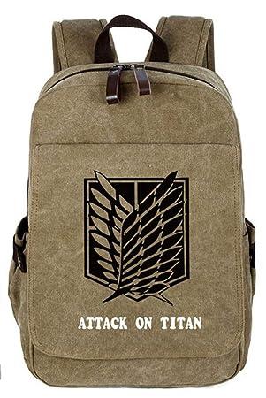 Cosstars Attack on Titan Anime Lona Mochilas de a Diario Backpack Bolso de Escuela: Amazon.es: Equipaje