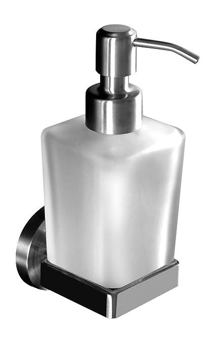 Ambrosya | Dispensador de jabón Exclusivo Hecho de Acero Inoxidable | Cuarto de baño Soporte de